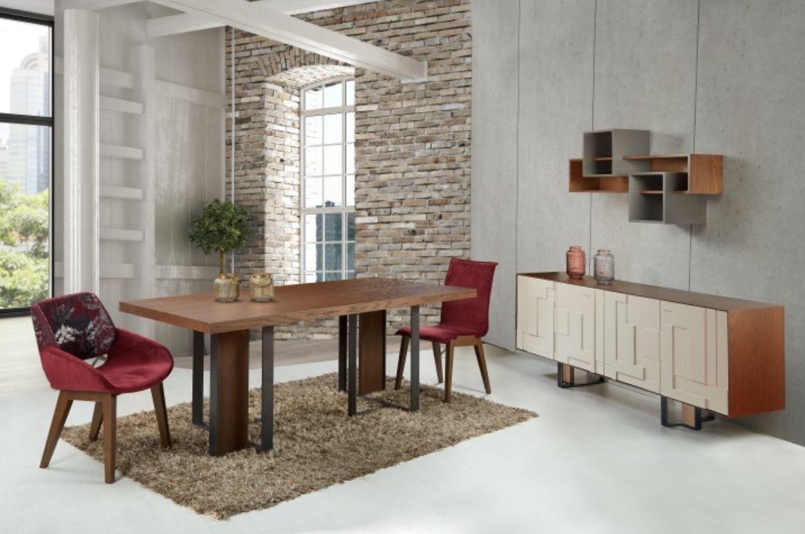 IRON DINING TABLE 200 x 100 + 45 cm BUFFET 210 x 45 x 80 cm - Waves ...